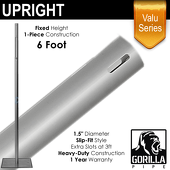 "Valu Series - 6ft 1.5"" Fixed Upright"