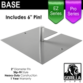 Pro & EZ Series - 24in x 24in Super Heavy Duty Base w/ Pin (Up to 20ft)
