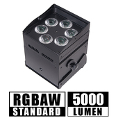 Super Cube Light - RGBAW, High Powered, Rechargeable Battery, Wireless DMX LED Light! - Black