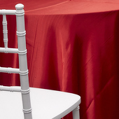 RED - Deco Satin Tablecloth - Size Options