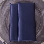 "Navy Blue - Deco Satin Napkin - 17"" x 17"" - 10 PACK"