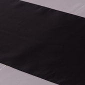 "Black Deco Satin Table Runner - 12"" x 108"" - 10 PACK"