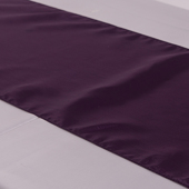"Dark Purple Deco Satin Table Runner - 12"" x 108"" - 10 PACK"
