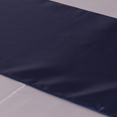 "Navy Blue Deco Satin Table Runner - 12"" x 108"" - 10 PACK"