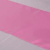 "Pink Deco Satin Table Runner - 12"" x 108"" - 10 PACK"