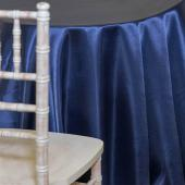 NAVY BLUE -  DECO Satin Tablecloth - Many Size Options