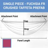 Single Piece - Fuchsia Crushed Taffeta Prefabricated Ceiling Drape Panel - Choose Length and Drop!