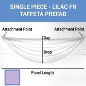 Single Piece - Lilac Taffeta Prefabricated Ceiling Drape Panel - Choose Length and Drop!