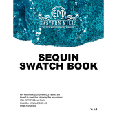 Sequin Fabric Swatch Book by Eastern Mills - All Sequin Products