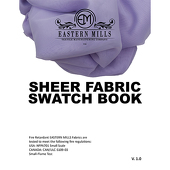 Sheer Fabric Swatch Book by Eastern Mills- All Sheer Products