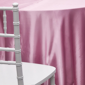 PINK - Deco Satin Tablecloth - Size Options