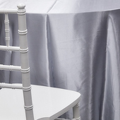 SILVER - Deco Satin Tablecloth - Size Options