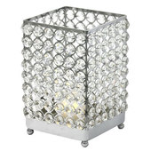 DecoStar™ Real Crystal Square Candle Holder - LG