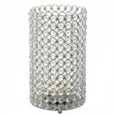 "DecoStar™ Crystal Candle Cylinder / Pillar - Large  6""W x 11""H"
