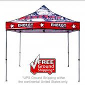 10 ft. Casita Canopy Tent - Aluminum - Full-Color UV Print Graphic Package