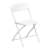 Feather XT™ Plastic Folding Chair - 800 lb Capacity - White