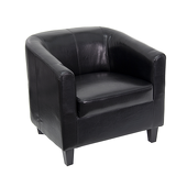 UltraLounge™ Leather Office Guest Chair - Black