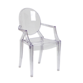 Ghost Chair W/ Arms in Transparent Crystal