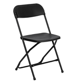 Feather XT™ Plastic Folding Chair - 800 lb Capacity - Black