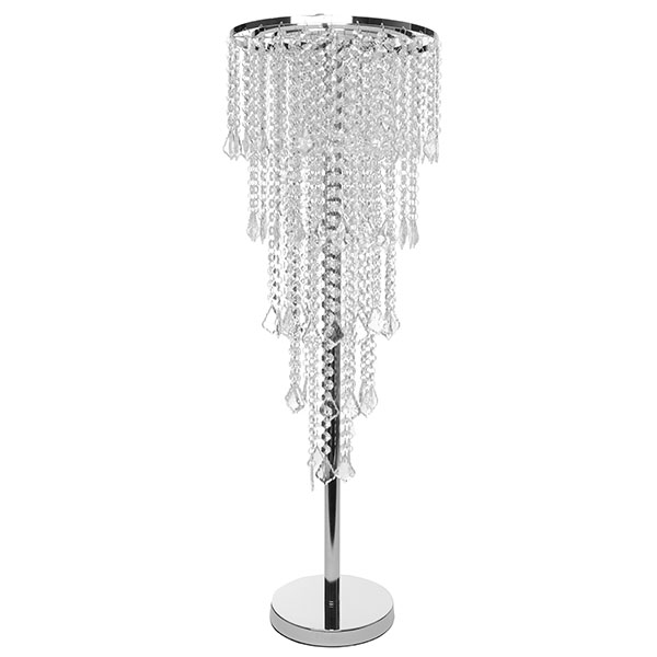 Tremendous 5 Tier Faceted Crystal Chrome Table Chandelier Centerpiece With Stand Download Free Architecture Designs Terstmadebymaigaardcom