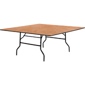 "72"" Square Plywood Table"