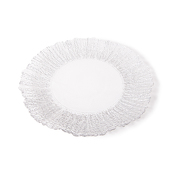 "DecoStar™ Silver Rimmed Sponge Glass Round Charger Plate 12.6"" - 4 Pack"