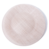 "DecoStar™ Champagne Glass Round Charger Plate 12.6"" - 4 Pack"