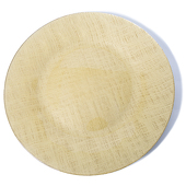 "DecoStar™ Gold Glass Round Charger Plate 12.6"" - 4 Pack"