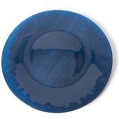 "DecoStar™ Navy Blue Glass Round Charger Plate 12.6"" - 4 Pack"
