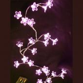 DecoStar™ Blooming Crystal LED Lighted Garland - Pink
