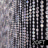 DecoStar™ 20ft. Jewel Crystal Iridescent Diamond Cut Curtain