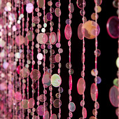 DecoStar™ 6ft Pink Iridescent Champagne Bubble Curtain