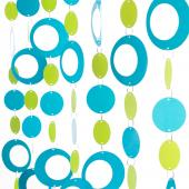 DecoStar™ 6ft Blue and Lime Hip Circle PVC Curtain