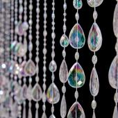 DecoStar™ 6ft Large Crystal Iridescent Teardrop Curtain
