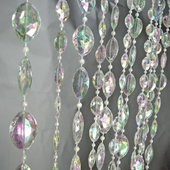 DecoStar™ 12ft Tall Large Pendant Acrylic Crystal Curtain