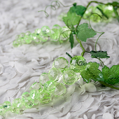 DecoStar™ 4ft Acrylic Green Grape Garland