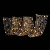 "DecoStar™ 15ft. Crystal Ceiling Draping Panel w/ LED Lights - Pure White - 20"" Wide"