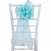 "DecoStar™ 9"" Sheer Flower Chair Accent - Angel Blue"
