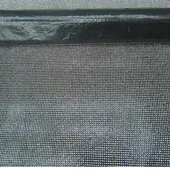 "DecoStar™ REAL Rhinestone - SUPER SPARKLE - Mesh Sheet - 4ft Long x 18"" Wide - Black Backing w/Clear Stone"