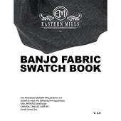 Banjo Fabric Swatch Book by Eastern Mills - All Banjo Products