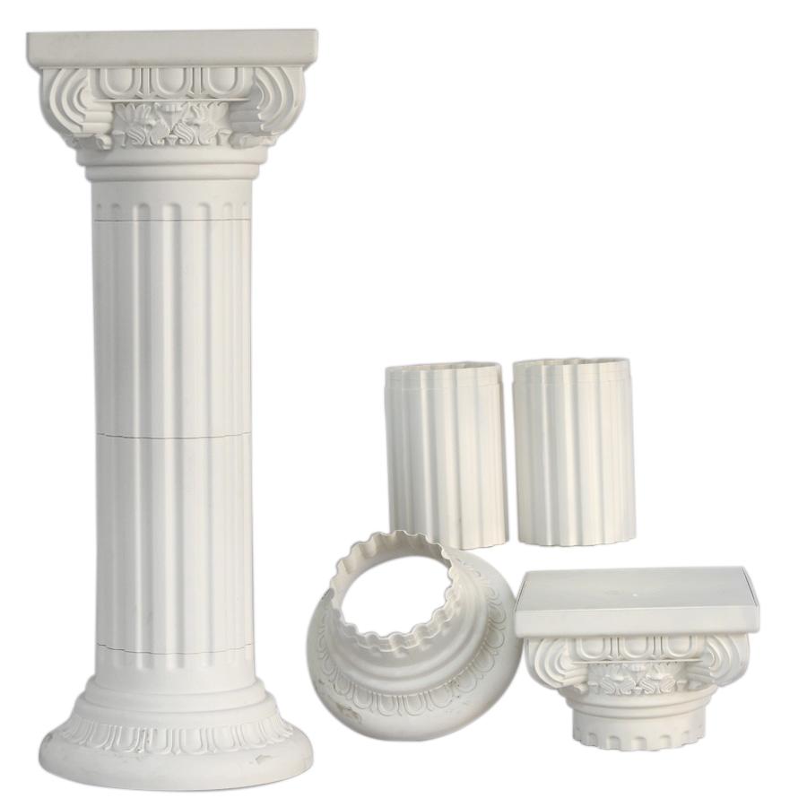 White Tall Pedestal Roman Plastic Pillars Columns 36-Inch