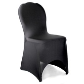 Premium Spandex (Lycra) Banquet & Wedding Chair Cover By Eastern Mills in Black Color