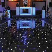 Black LED Starlight Dance Floor Kit - 26ft x 26ft (includes Flight Case)