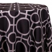 Black - Roundabouts Designer Tablecloths - Many Size Options