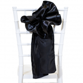 "DecoStar™ 9"" Satin Flower Chair Accent - Black"