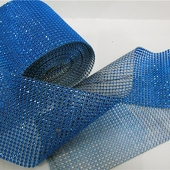 DecoStar™ Blue Rhinestone Mesh - 30 Foot Roll