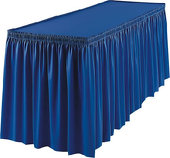 14 Ft. Poly Knit Table Skirting-In Choice of Colors-29 In. Long-Velcro Backing