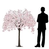5.5FT Drooping Hydrangea Bloom Tree - Floor or Centerpiece - Blush/Light Pink