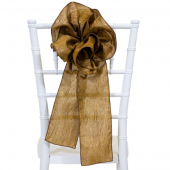 "DecoStar™ 9"" Crushed Taffeta Flower Chair Accent - Bronze"