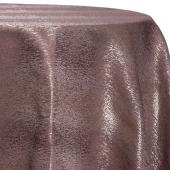 Bronze - Designer Mardi Gras Linen Broad Tablecloth w/ Brushed Metallic Finish - Many Size Options